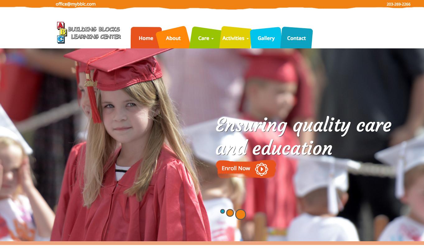 website design ct - daycare center