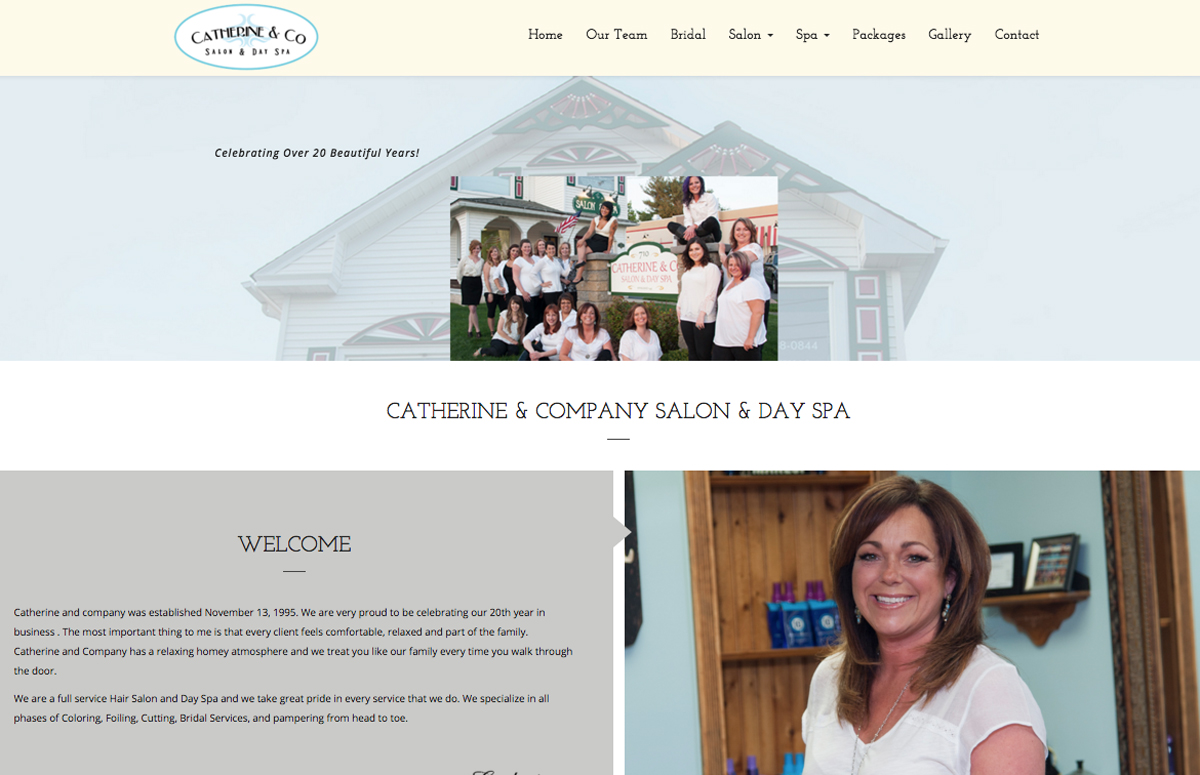 website design hair salon ct