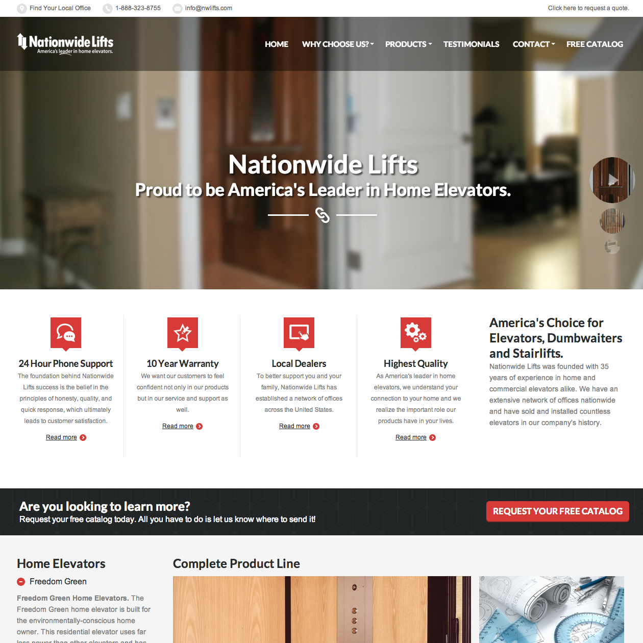 home-elevator-web-design