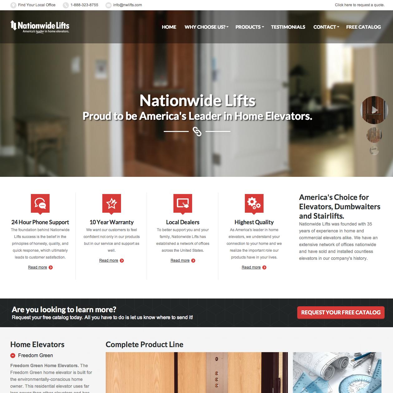 home-elevator-web-design