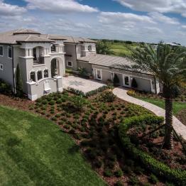 Real Estate Photography FL \ Aerial Shot of Casa Bella in Windermere