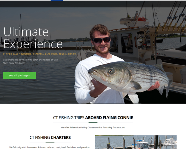 Flying Connie Fishing Charters – Website Design